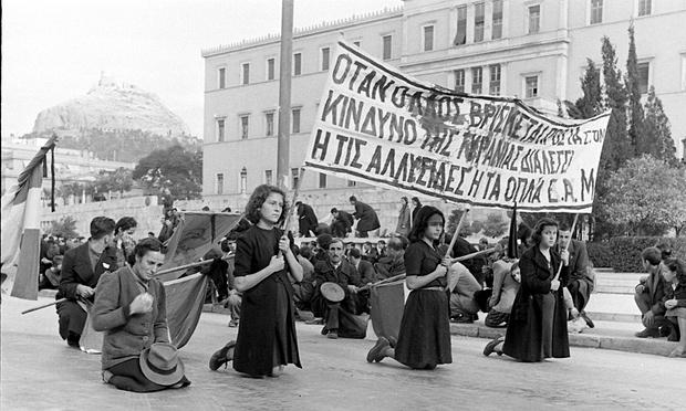 Manifestazione di donne ateniesi